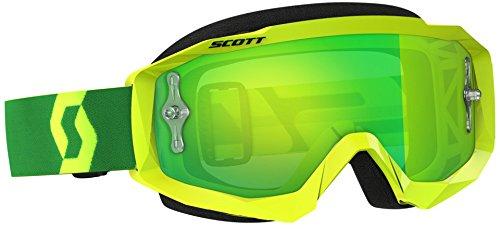 Scott Hustle MX Adult Off-Road Motorcycle Goggles - YellowGreenChromeOne Size
