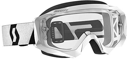 Scott Unisex Adult Hustle X White and Black Goggle One Size