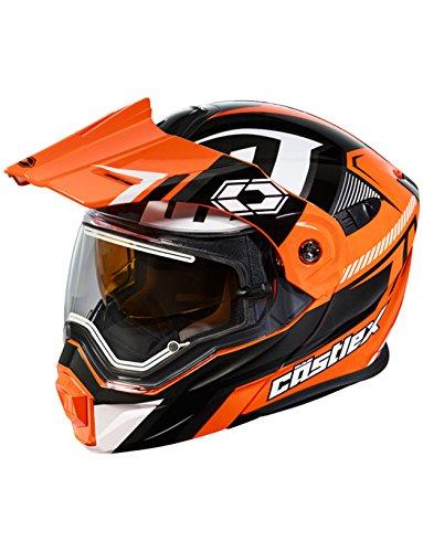 Castle X EXO-CX950 Slash Electric Snowmobile Helmet LRG Flo OrangeBlack