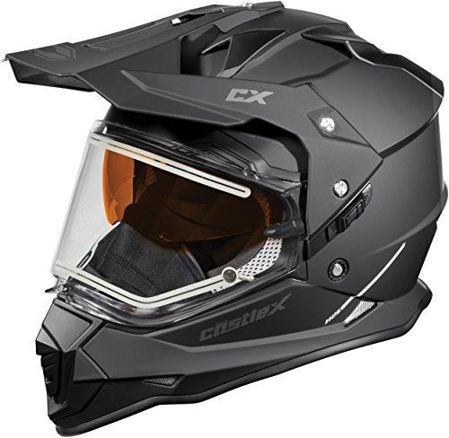 Castle X Mode Dual-Sport SV Electric Snowmobile Helmet XLG Matte Black
