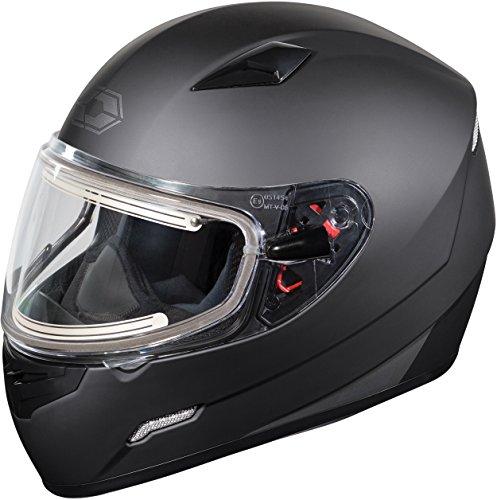 Castle X Mugello Electric Snowmobile Helmet LRG Matte Black