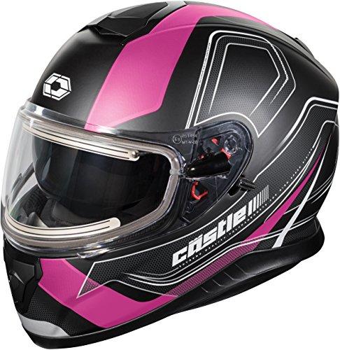 Castle X Thunder 3 SV Trace Electric Snowmobile Helmet LRG Matte Pink