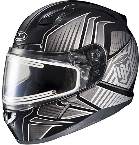 HJC CL-17 Redline - Electric Snowmobile Helmet - BlackGrey - X-Small