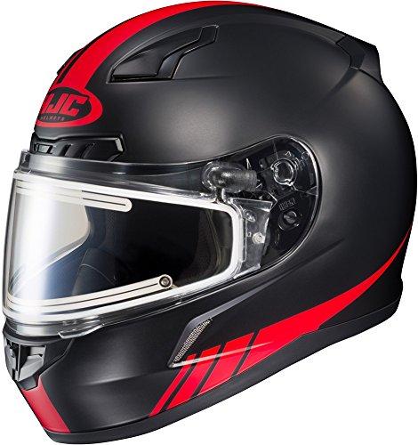 HJC CL-17 Streamline - Electric Snowmobile Helmet - Matte BlackRed - XX-Large