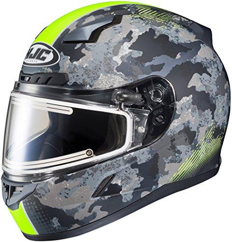 HJC CL-17 Void Mens Electric Snowmobile Helmets - BlackHi-Vis - 2X-Large