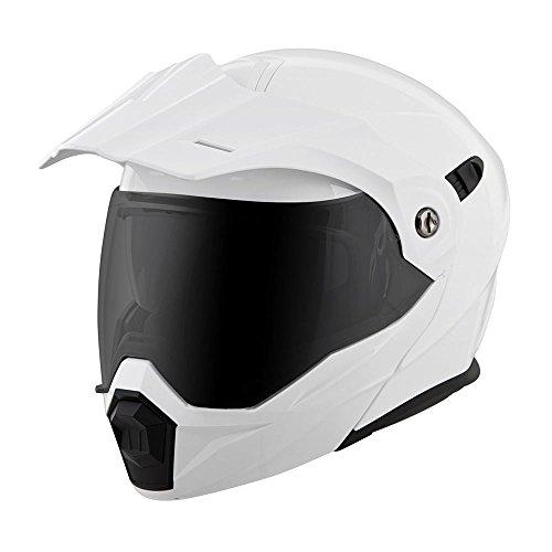 Scorpion EXO-AT950 Modular Solid Street Bike Motorcycle Helmet - White  Large