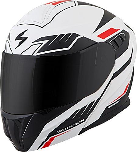 Scorpion EXO-GT920 Modular Shuttle Street Bike Motorcycle Helmet - WhiteBlack  Medium