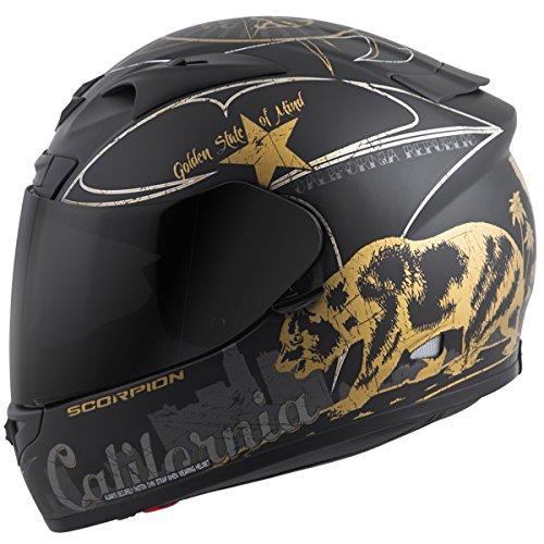 Scorpion EXO-R710 Golden State Street Motorcycle Helmet Black Medium