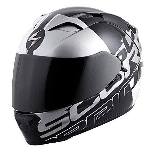 Scorpion EXO-T1200 Quattro Street Motorcycle Helmet WhiteSilver X-Large