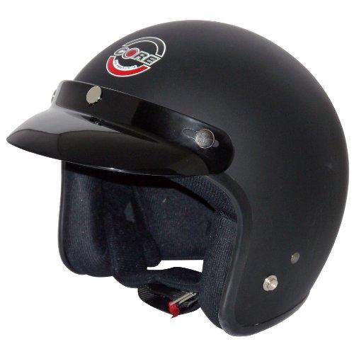 Core Vintage Open Face Helmet Flat Black Medium