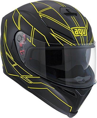 AGV K-5 S Hero Adult Helmet - BlackFlo Yellow  MediumLarge