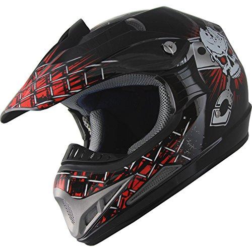 Adult Helmet ATV Motocross Dirt Bike Off road Helmet 180 RedBlack L