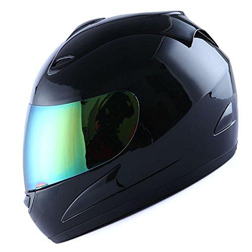Motorcycle Full Face Adult Helmet Street Bike Glossy Solid Black
