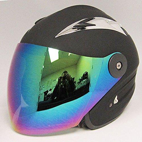 Motorcycle Street Bike Scooter Open Face 34 Adult Helmet Black