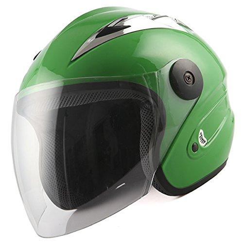 Motorcycle Street Bike Scooter Open Face 34 Adult Helmet Green