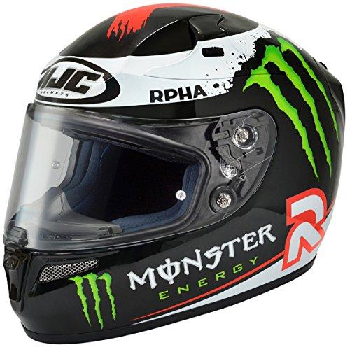 HJC RPHA-10 Jorge Full-Face Street Helmet Lorenzo Replica Monster Energy XX-Large