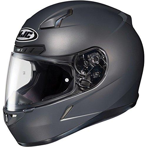 HJC Metallic Mens CL-17 Road Race Motorcycle Helmet - Matte Anthracite  4X-Large Plus