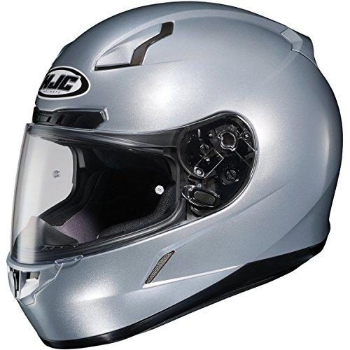 HJC Metallic Mens CL-17 Road Race Motorcycle Helmet - Silver  Large