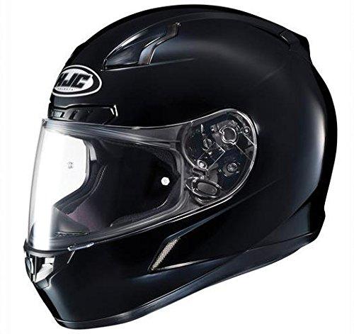 HJC Solid Mens CL-17 Full Face Motorcycle Helmet - Black  Large