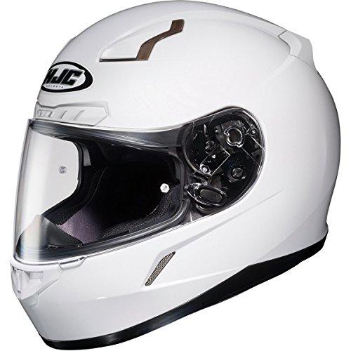 HJC Solid Mens CL-17 Full Face Motorcycle Helmet - White  Medium