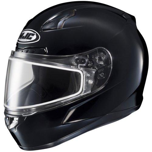HJC Solid Mens CL-17 Winter Sport Snowmobile Helmet - Black  4X-Large