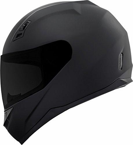 GDM DK-140-MB Duke Series Full Face Motorcycle Helmet with Clear and Tinted Visors - Medium Matte Black
