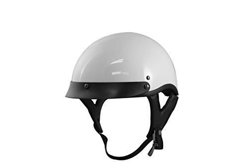 VCAN V531 Half Helmet Solid White Medium