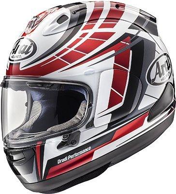 Arai Corsair-X Planet Red Motorcycle Helmet Medium More Size Options