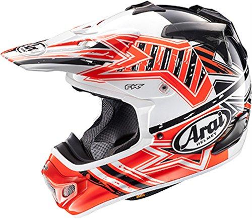 Arai VX-Pro 4 Shooting Star Red Motocross Helmet - Medium