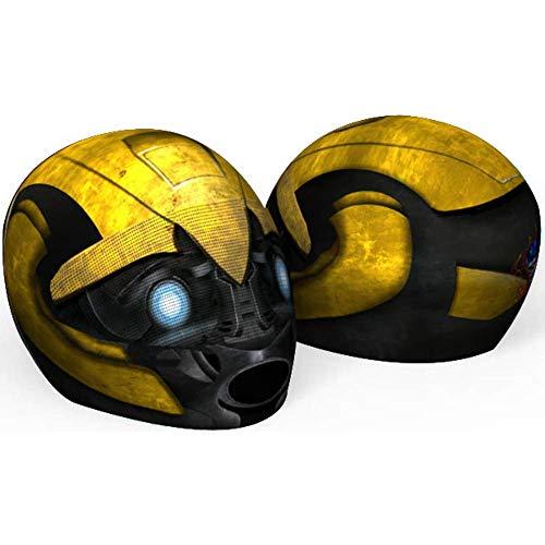 SkullSkins Bumblebee Transformed Yellow Universal Full Face Motorcycle Helmet Cover Skin