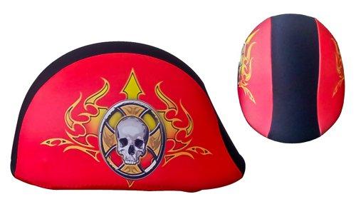 SkullSkins Skull Wheel Polo Beanie Cap Skin Red