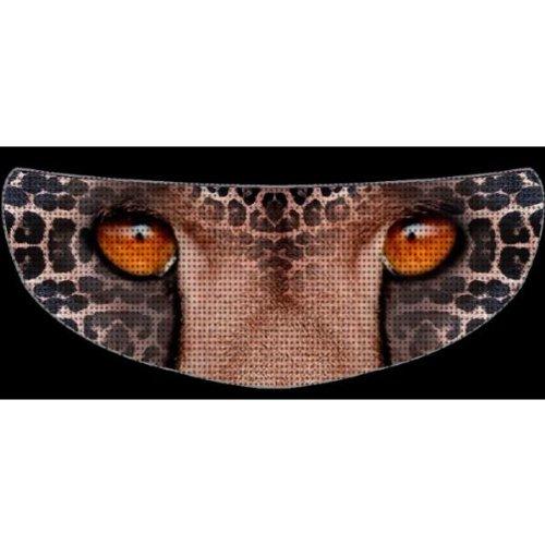 SkullSkins Top Cat SK Animal Print Motorcycle Shield Skin