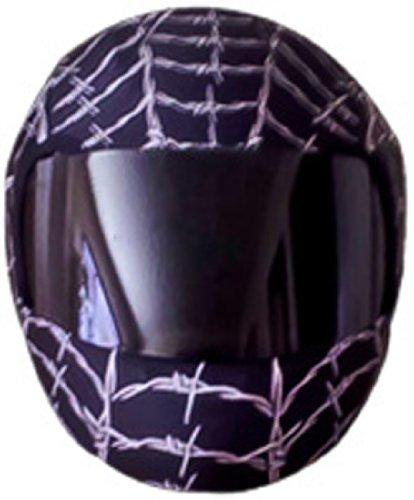 SkullSkins Wired Web Motorcycle Helmet Street Skin Black