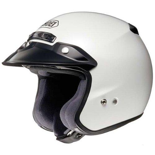 Shoei Metallic RJ-Platinum R Cruiser Motorcycle Helmet - Crystal White  Large