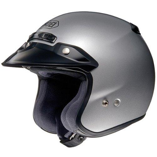 Shoei Metallic RJ-Platinum R Cruiser Motorcycle Helmet - Light Silver  Medium