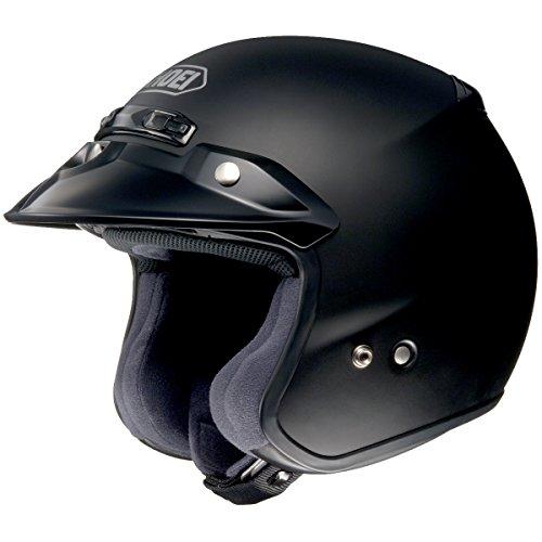 Shoei Solid RJ-Platinum R Cruiser Motorcycle Helmet - Matte Black  Medium