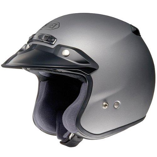 Shoei Solid RJ-Platinum R Cruiser Motorcycle Helmet - Matte Grey  2X-Large