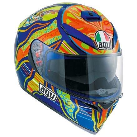 AGV K-3 SVSun-Visor Full-Face Helmet Five ContinentsVR46 Valentino Rossi Replica XS