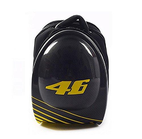 ROCK-BIKER Motorcycle Backpack VR 46 Valentino Rossi Hard Shell Backpack Helmet Storage and Protection Optimization