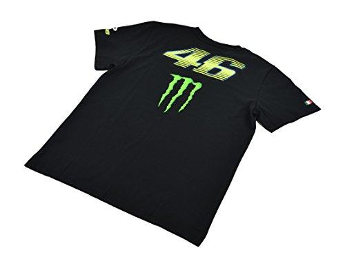 Yamaha Valentino Rossi VR46 X MONSTERENERGY short-sleeved T-shirt Black Monster Energy amp OAKLEY amp 46 Biggurogo size XLARGE Europe