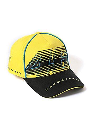 Yamaha Valentino Rossi VR46 baseball cap yellow amp Black 46BIG logo VRFORTYSIX