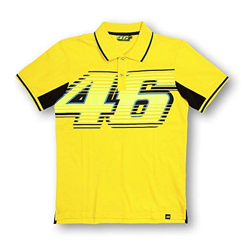 Yamaha Valentino Rossi VR46 short-sleeved polo shirt yellow amp Black 46BIG logo size XLARGE Europe