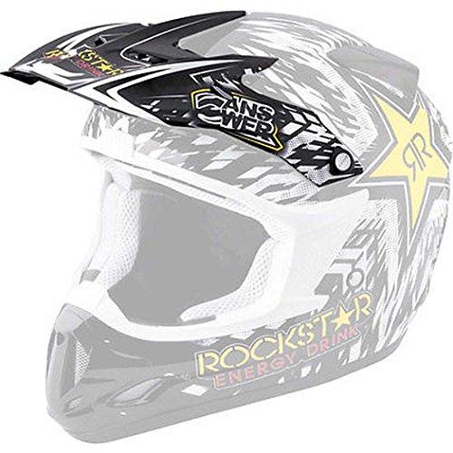 Answer Helmet Visor for Comet Helmet - Rockstar Black 454467