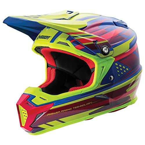 Answer Racing AR-5 Mens Off-Road Motorcycle Helmets - AcidBlueLarge