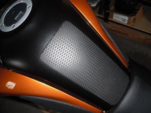 Techspec Tank Grips - 2012-2013 Suzuki V-Strom DL 650 - Techspec 62-3006-SS - Snake Skin - Black