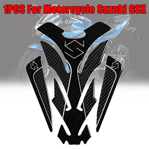 Zqasales 5D Carbon Fiber Motorcycle Tank Pad Sticker Real Carbon Fiber Motorcycle Decal Vinyl Tank Protector Tank Pad for Suzuki GSX S GSX-R 150 250 GSXR600 750 1000