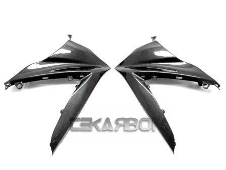 2007 - 2008 Suzuki GSXR 1000 Carbon Fiber Upper Side Fairings