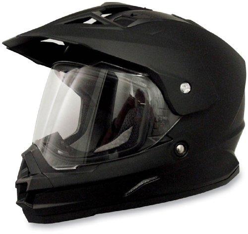 AFX FX-39 Unisex-Adult Full-Face-Helmet-Style Dual Sport Helmet Flat Black Small