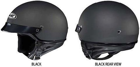 HJC CS-2N Motorcycle Half-Helmet Flat Black Small