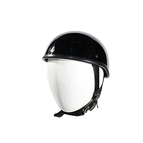 SOA Beanie Novelty Shiny Black Motorcycle Half Helmet Cruiser Biker SMLXLXXL M BLACK